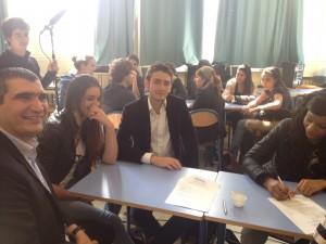 IMG 34092 300x225 Je suis intervenu aux Forum des entrepreneurs pour donner envie aux lycéens de Suresnes
