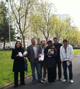 IMG 3492 269x300 Reportage sur Europe1 au sujet de la campagne de porte à porte animée par Yacine DJAZIRI à NANTERRE